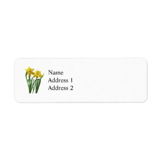 Daffodils At Attention Label