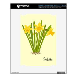 Daffodils Barnes and Noble Nook Skin