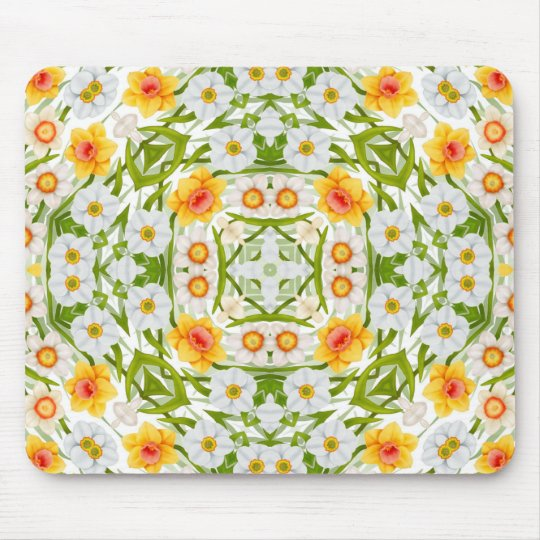 Daffodils Baroque Floral Mousepad