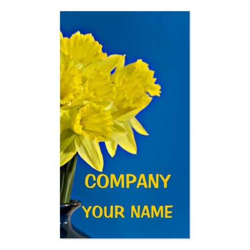 Daffodils Double-Sided Standard Business Cards (Pack Of 100)