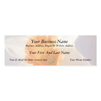 Daffodils Double-Sided Mini Business Cards (Pack Of 20)