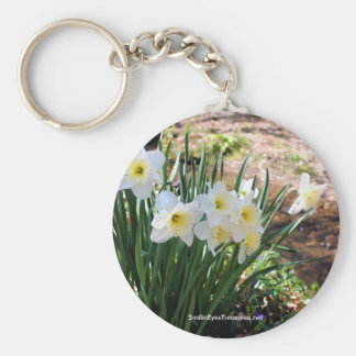 Daffodils By Brook Flower Photo Keychain