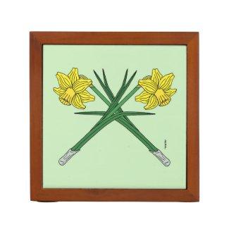 Daffodils Crossed Desk Organizer