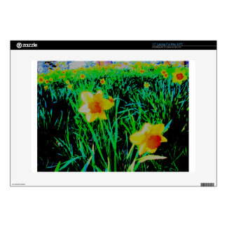 """Daffodils Decal For 15"""" Laptop"""