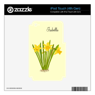 Daffodils Decal For iPod Touch 4G