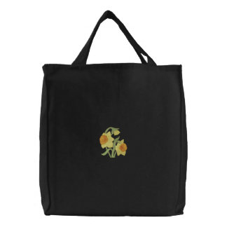 Daffodils Embroidered Tote Bag
