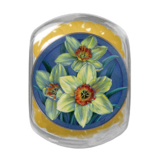 Daffodils fine art painting candy tin