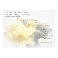 Daffodils Floral Wedding Invitation
