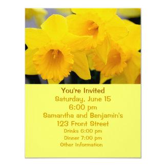 "Daffodils Flowers 4.25"" X 5.5"" Invitation Card"