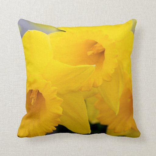 Daffodils Flowers Throw Pillows