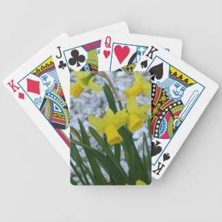 Daffodils Growing Bicycle Playing Cards