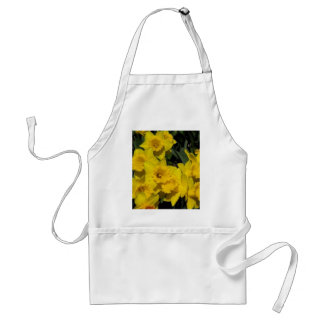 daffodils in spring time 2 adult apron