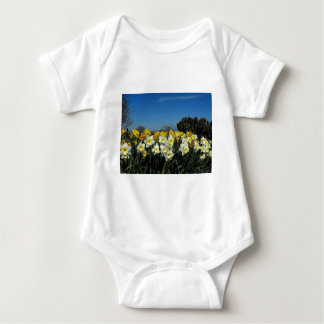 daffodils in spring time baby bodysuit