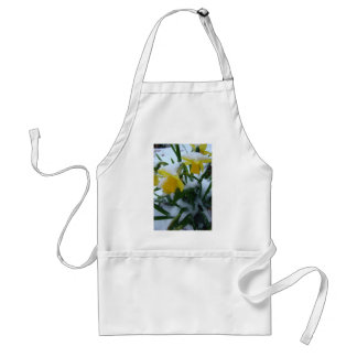 DAFFODILS IN THE SNOW ADULT APRON