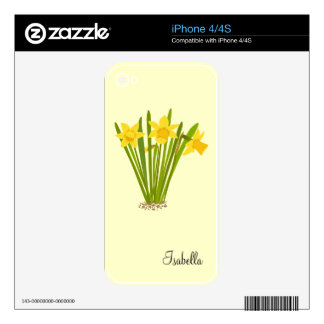 Daffodils iPhone 4 / 4s Skin For The iPhone 4