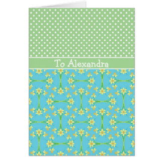 Daffodils, March Birthday Card to Personalize