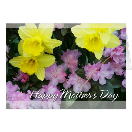 Daffodils/Narcissus/Azalea Mothers Day Card