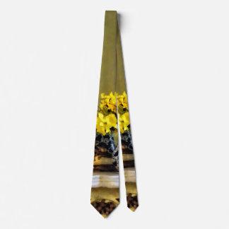 Daffodils on Mantelpiece Neck Tie