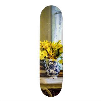 Daffodils on Mantelpiece Skateboard Deck