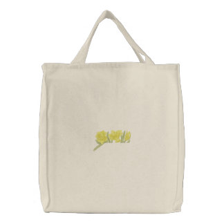 Daffodils Pocket Topper Embroidered Tote Bag