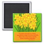 Daffodils Refrigerator Magnet