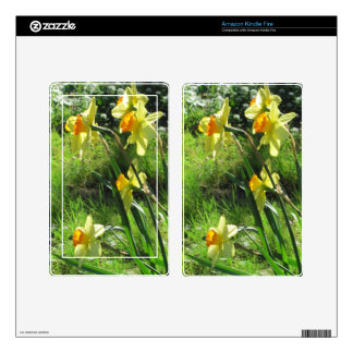 Daffodils Kindle Fire Decals