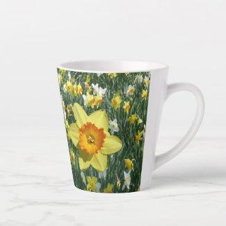 Daffodils Spring Fl. Field Yellow Orange Latte Mug