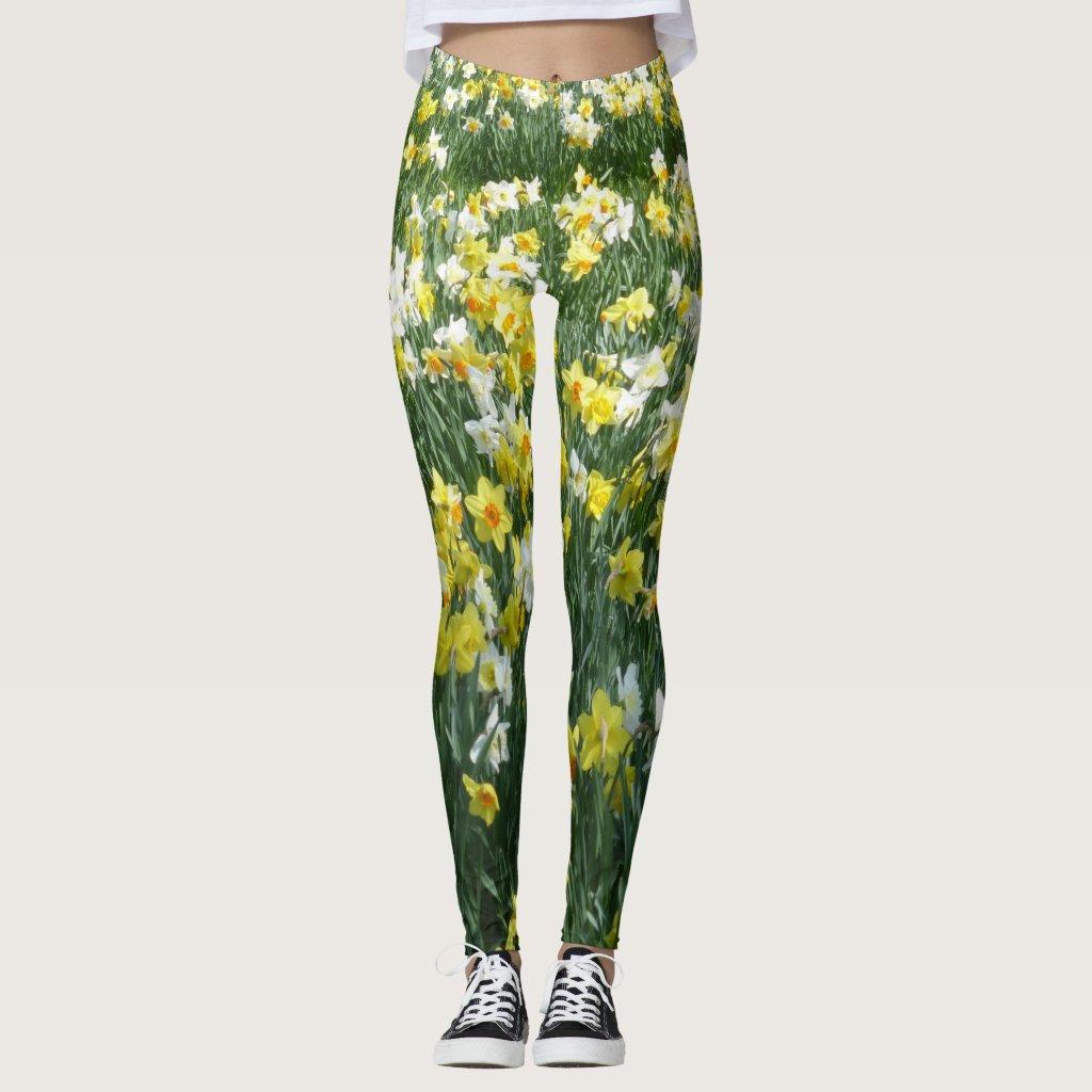 Daffodils Spring Flowers Legging