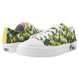 Daffodils Spring Flowers Low Top Zipz Shoes