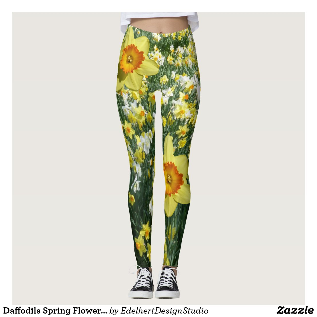 Daffodils Spring Flowers Yellow Orange Legging
