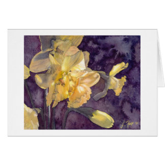 Daffodils Watercolor Greeting Note Cards