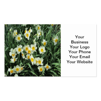 Daffodils Yellow White Business Card Template