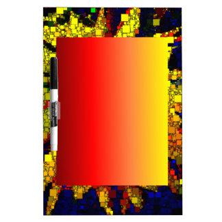 Daffoldil Squares Dry-Erase Board