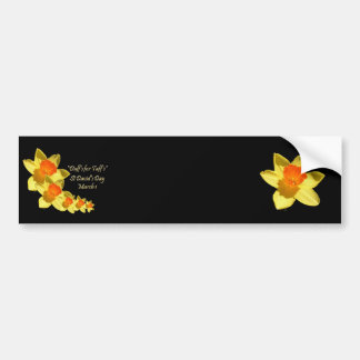 Daffs For Taffs On Black Bumper Sticker