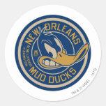 Daffy Duck Mud Ducks Round Logo Round Sticker