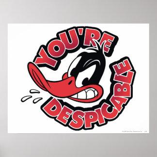 DAFFY DUCK™ - Usted es despreciable Póster