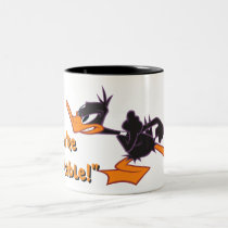 Daffy Ready to Fight Two-Tone Coffee Mug