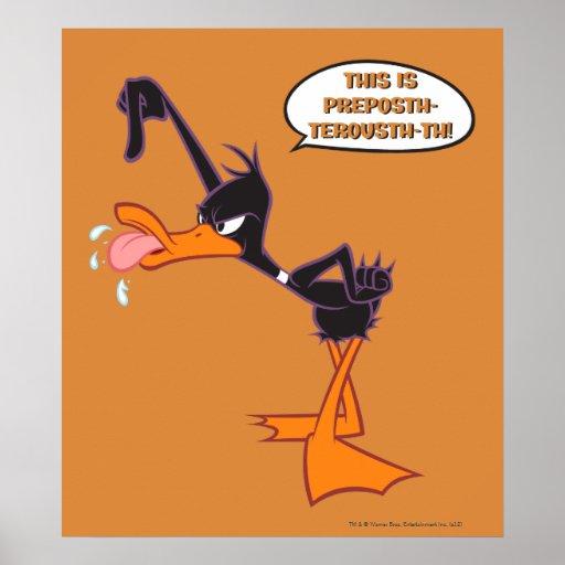 Daffy Speech Bubble Posters