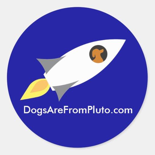 DAFProcketdog-nooutline Pegatina Redonda