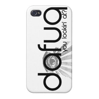 ¿Dafuq es usted Lookin en? caso del iPhone 5 iPhone 4/4S Carcasas
