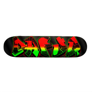 Dafuq Rasta Graffiti Skateboard. Skateboard