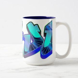 Dafuq Toxic Blue Graffiti Mug.