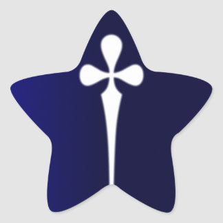 Daga #1 pegatina en forma de estrella