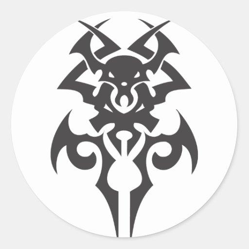 Daga del demonio pegatina redonda