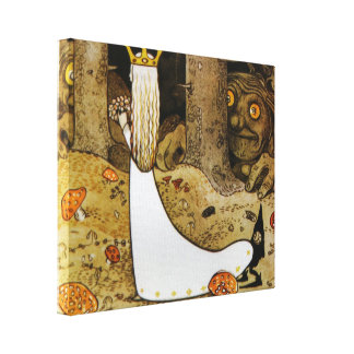 Daga in the Woods Canvas Print