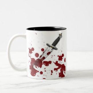 Daga sangrienta taza