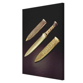 Daga y envoltura del oro lona envuelta para galerías