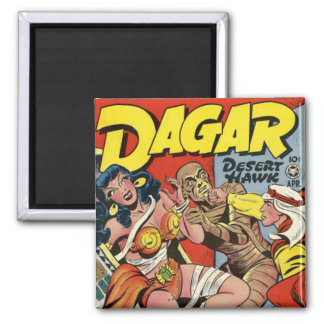 Dagar comic book 2 inch square magnet
