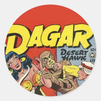 Dagar comic book sticker
