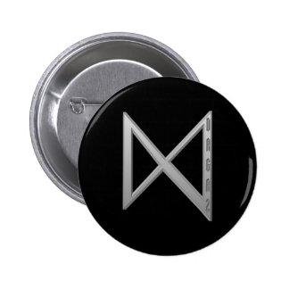Dagaz Rune grey Pinback Button